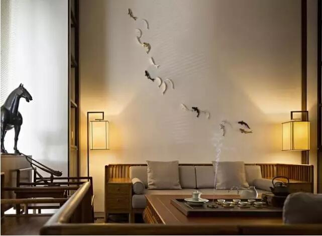 惊艳的新中式背景墙设计!
